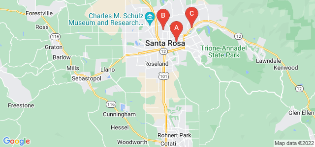 Google static map for Sonoma County