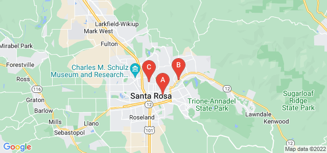 Google static map for Santa Rosa