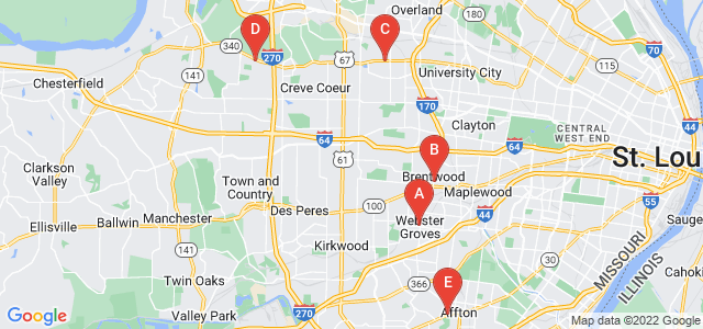 Google static map for St Louis County