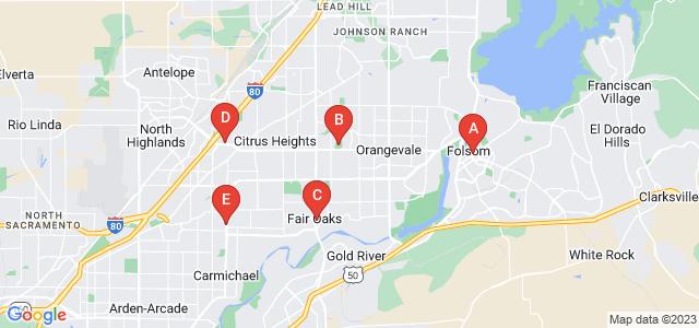 Google static map for Sacramento County