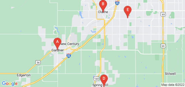 Google static map for Johnson County