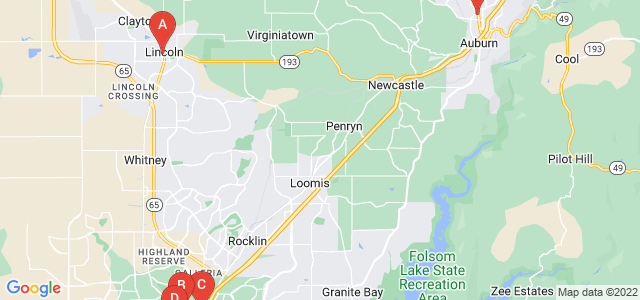 Google static map for Placer County