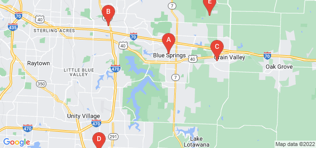 Google static map for Jackson County