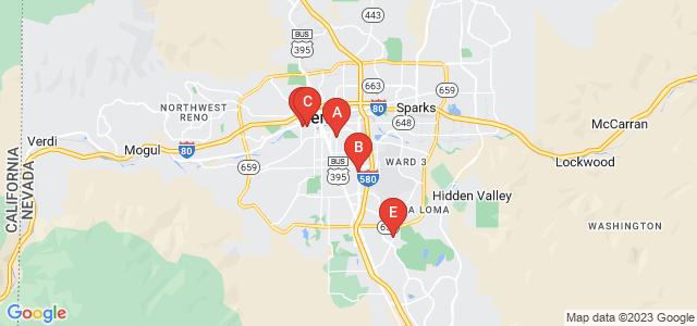 Google static map for Reno