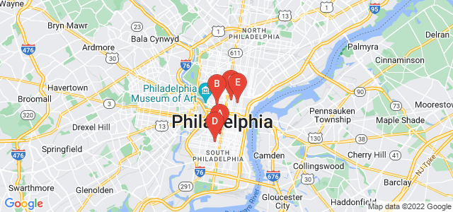 Google static map for Philadelphia