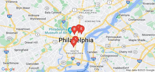 Google static map for Philadelphia