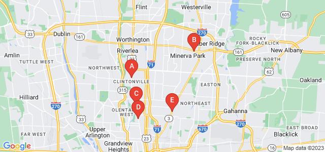 Google static map for Columbus