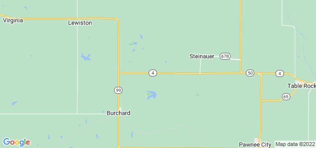 Google static map for Nebraska