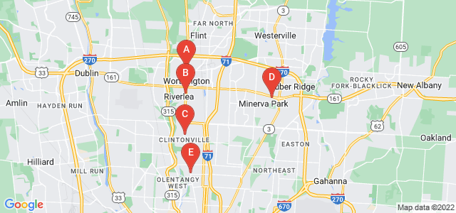 Google static map for Franklin County