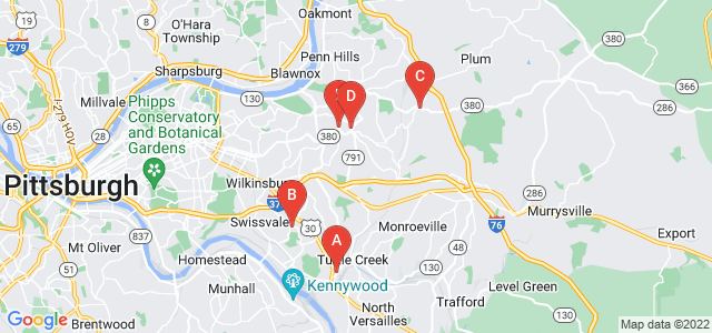 Google static map for Pittsburgh