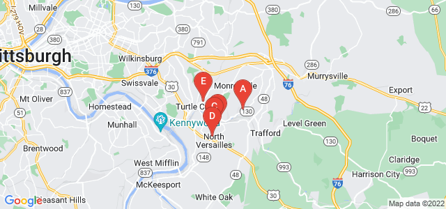Google static map for Allegheny County