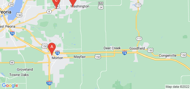 Google static map for Illinois