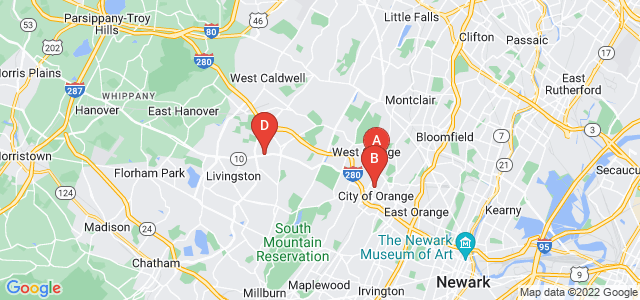 Google static map for Essex County