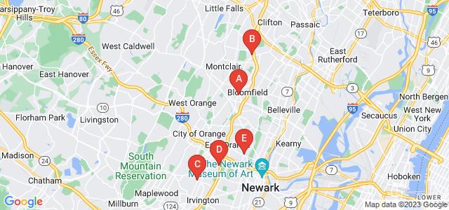 Google static map for Newark