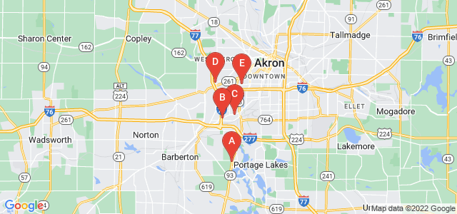 Google static map for Akron