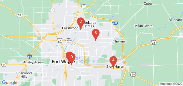 Google static map for Allen County