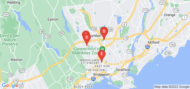 Google static map for Fairfield County