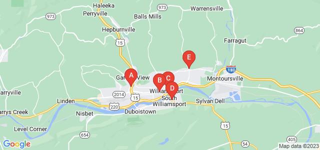 Google static map for Williamsport