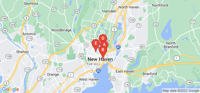 Google static map for New Haven