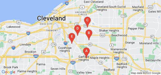 Google static map for Cleveland