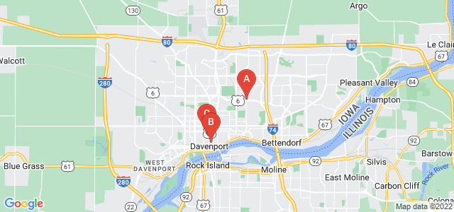 Google static map for Davenport