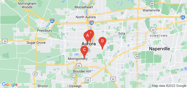 Google static map for Aurora