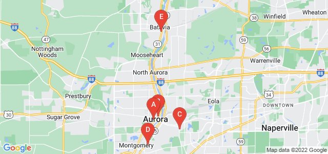 Google static map for Kane County