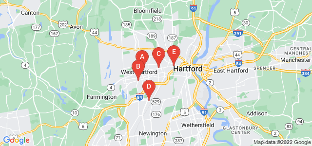 Google static map for Hartford