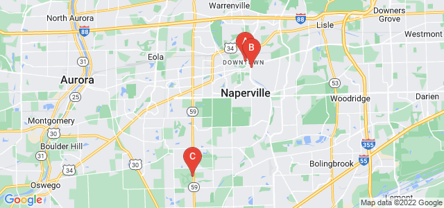 Google static map for Naperville