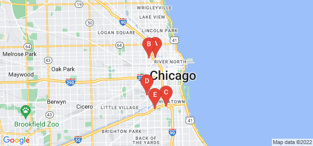 Google static map for Chicago