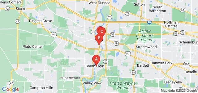 Google static map for Elgin