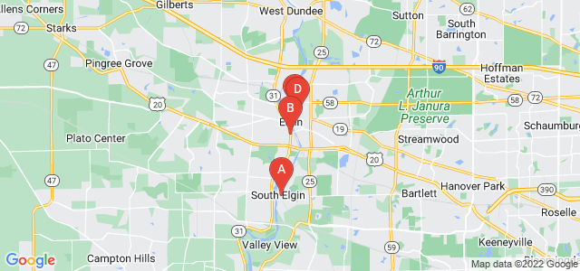 Google static map for Elgin