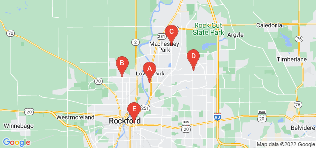 Google static map for Winnebago County