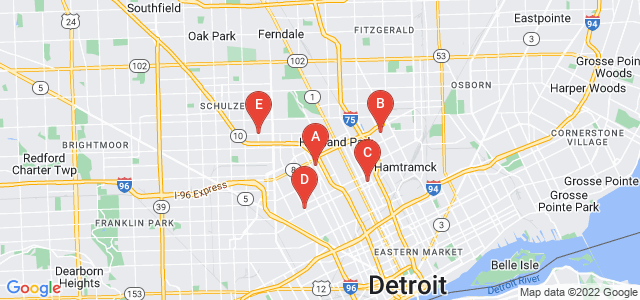 Google static map for Detroit