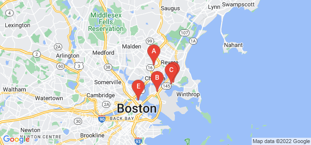 Google static map for Boston