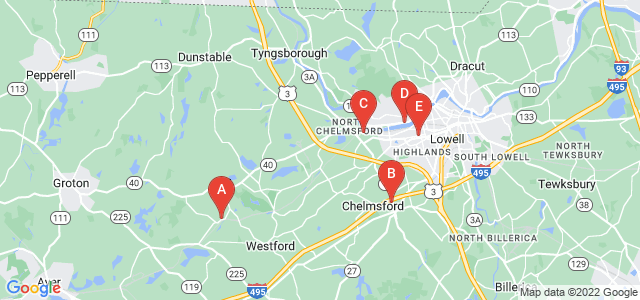 Google static map for Middlesex County