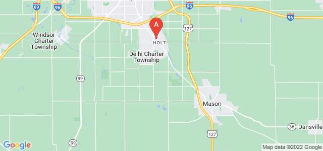 Google static map for Ingham County