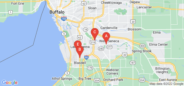 Google static map for Buffalo
