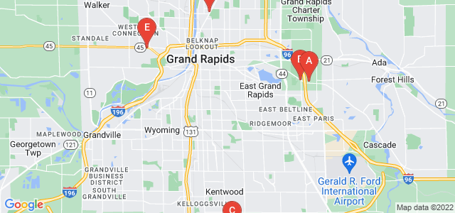 Google static map for Grand Rapids