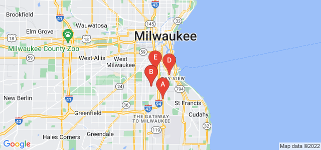Google static map for Milwaukee