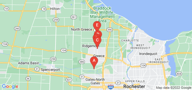 Google static map for Rochester