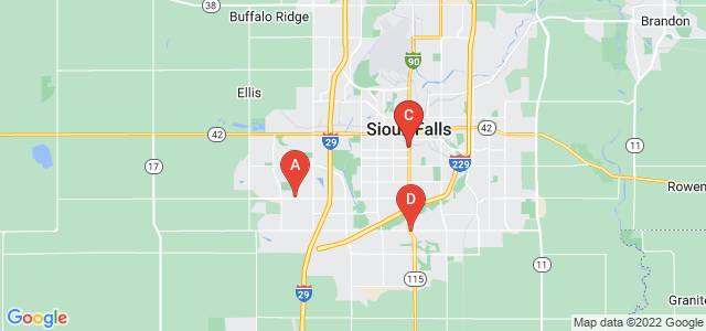 Google static map for Sioux Falls