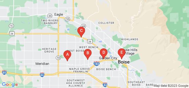 Google static map for Boise