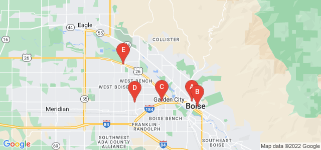 Google static map for Boise