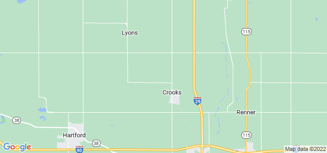 Google static map for Minnehaha County