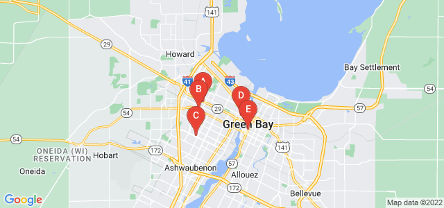 Google static map for Green Bay