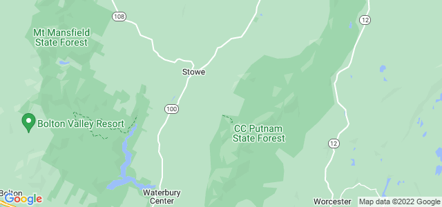 Google static map for Vermont