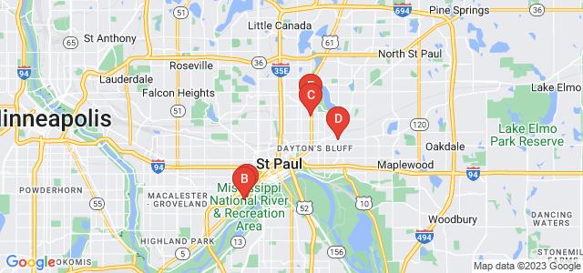 Google static map for Saint Paul