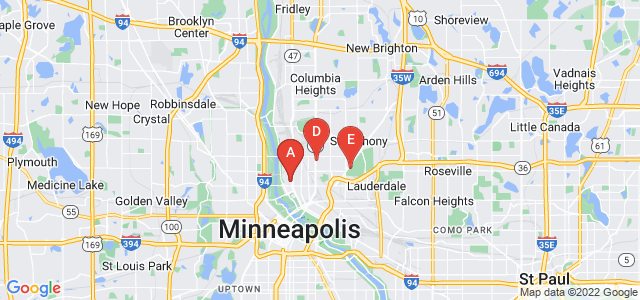 Google static map for Minneapolis