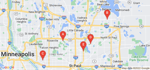 Google static map for Saint Paul